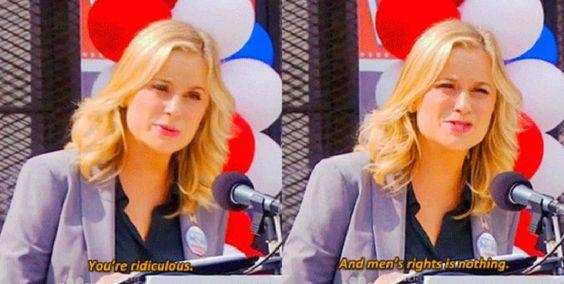 men's rights is nothing leslie knope