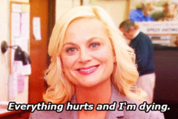 everything hurts and i'm dying leslie knope
