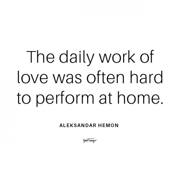 Aleksandar Hemon long distance relationship quote