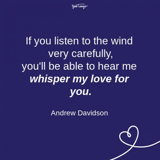 Andrew Davidson long distance relationship quote