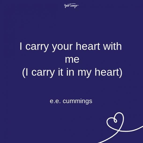 ee cummings long distance relationship quote