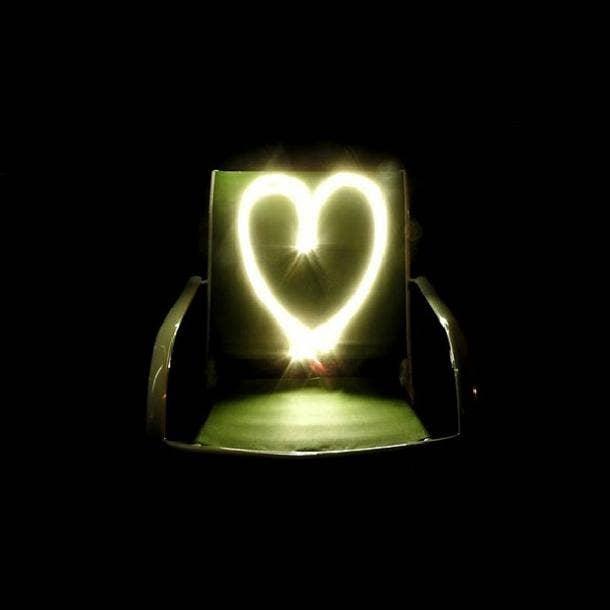 long exposure heart love symbol