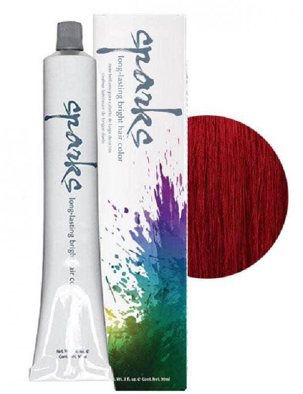 Long-Lasting Bright Hair Color in Red Velvet from Sparks