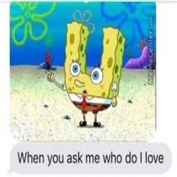 love meme love u spongebob