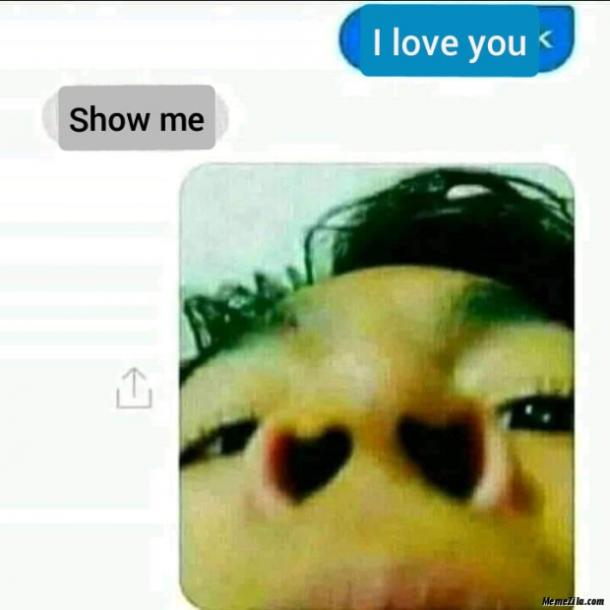 love meme heart nostrils