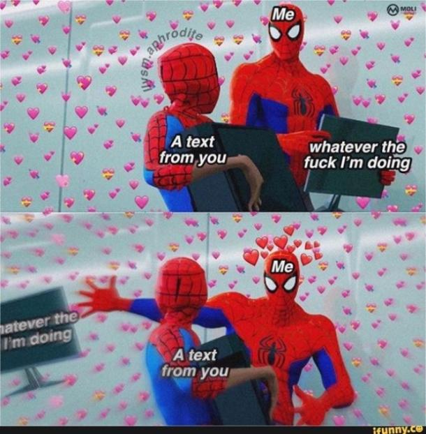 love meme text from you