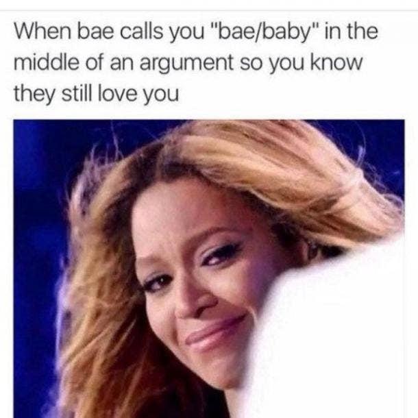 love meme calls you baby