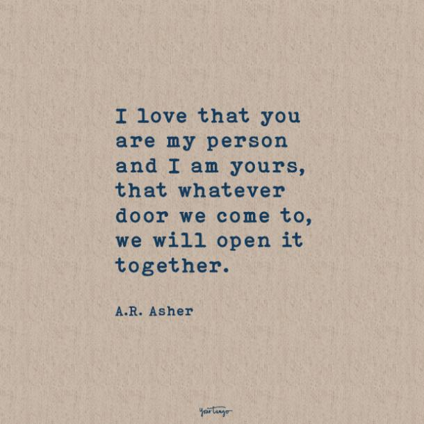 A.R. Asher sweet love quotes