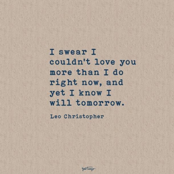 Leo Christopher sweet love quotes
