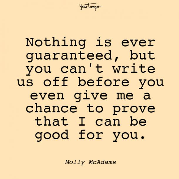 molly mcadams prove your love quotes