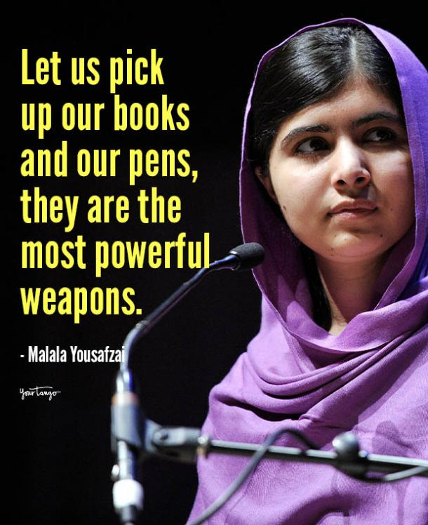 let us pick up our books Malala Yousafzai quotes