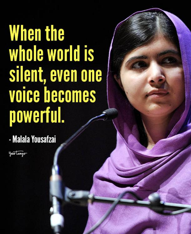 when the whole world is silent malala yousafzai quotes