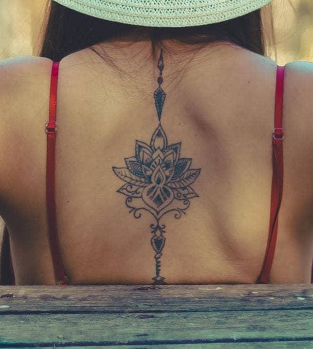 mandala tattoo idea for women