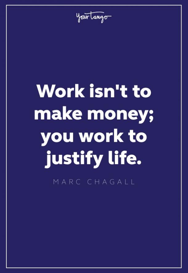 marc chagall quote about work