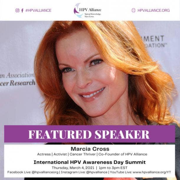 Marcia Cross HPV Awareness