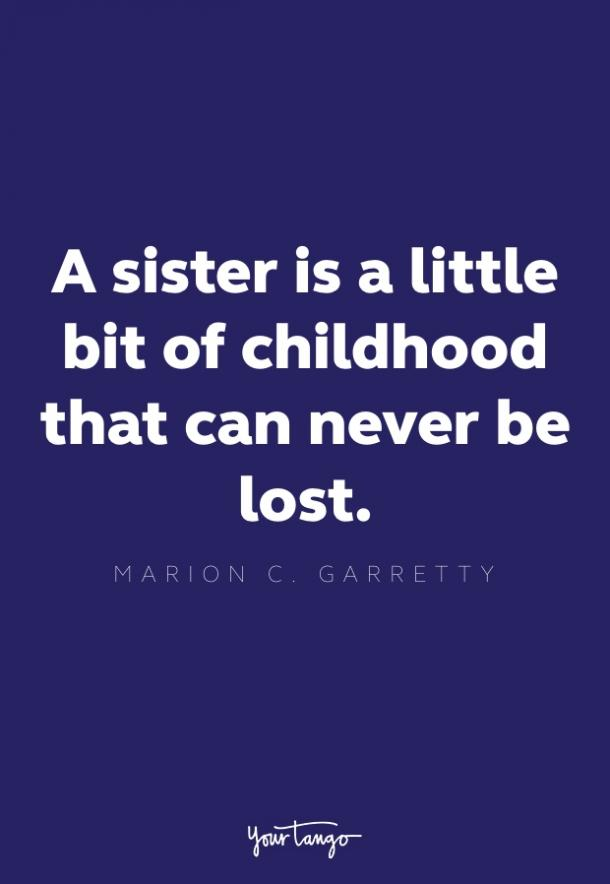 marion c. garretty loss of a sister quote