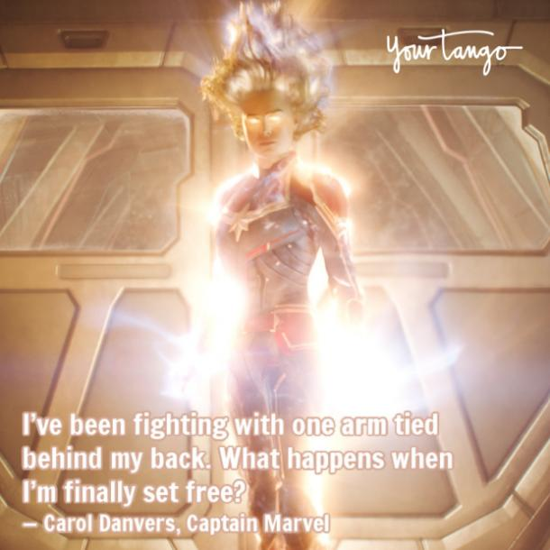 Marvel quote from Captain Marvel