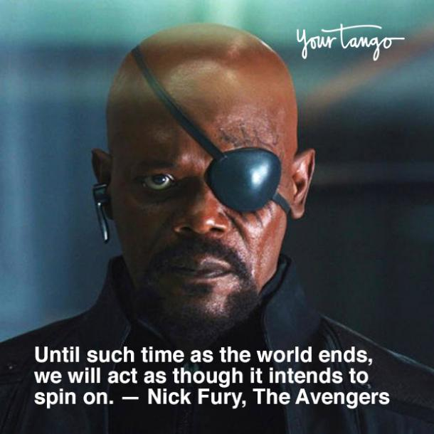 Marvel quote from The Avengers