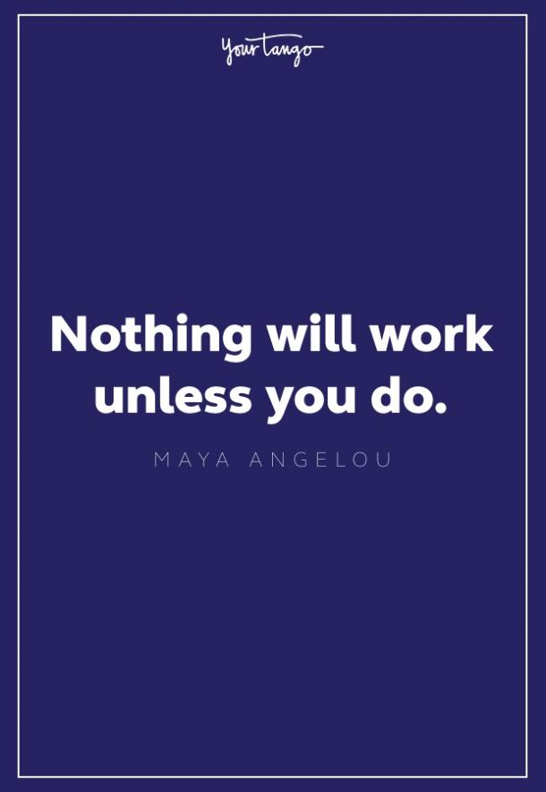 maya angelou quote about work
