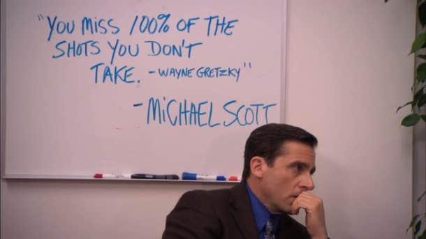michael scott wayne gretzky quote