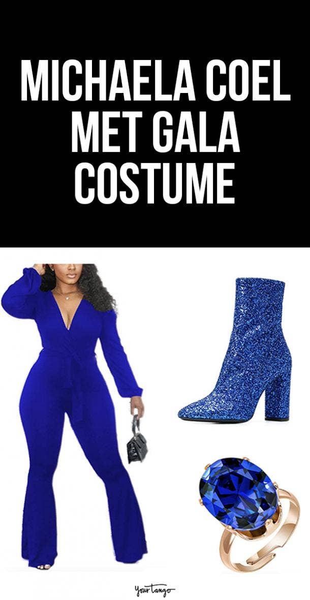 Michaela Coel Blue Balenciaga Halloween Costume Idea