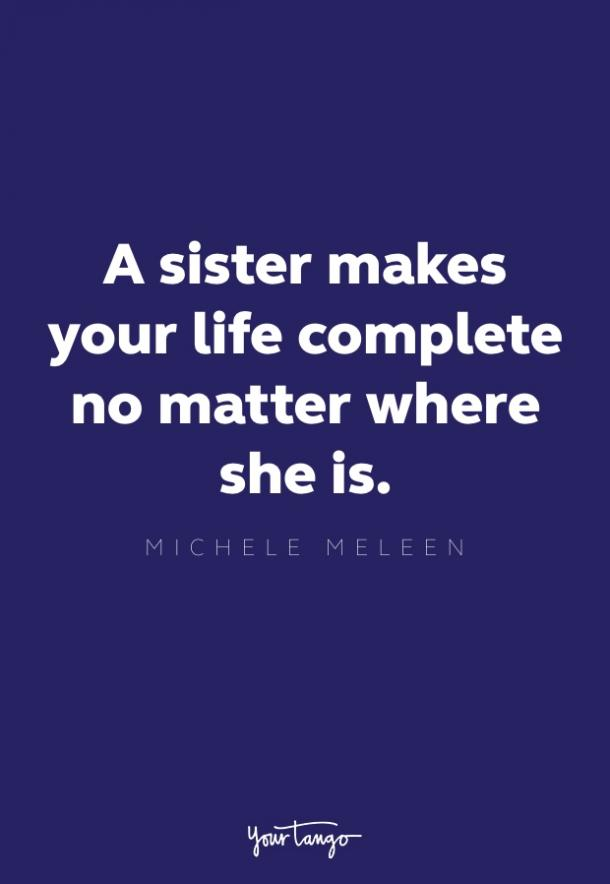 michele meleen sister quote