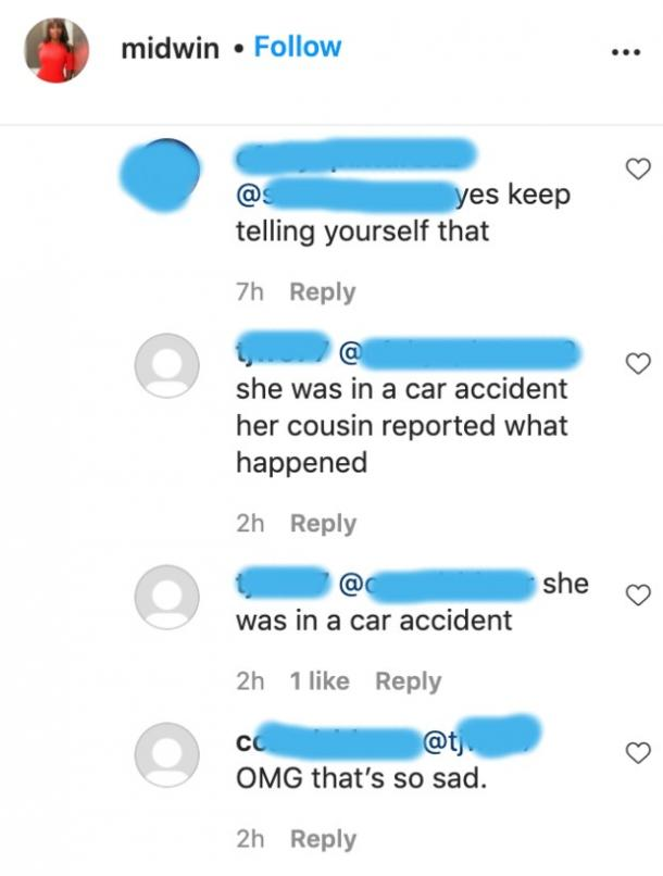 midwin charles car accident rumor