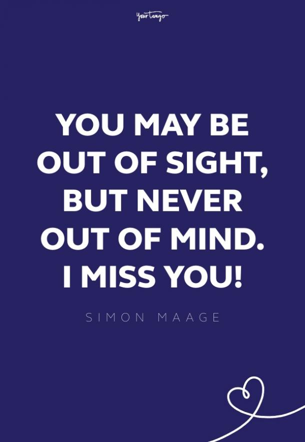 simon maage missing someone quote