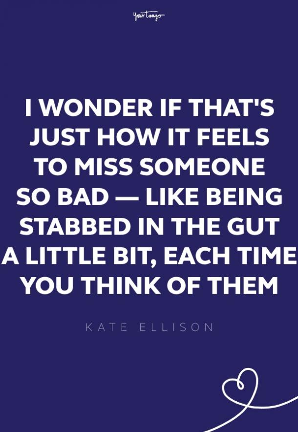 kate ellison missing someone quote
