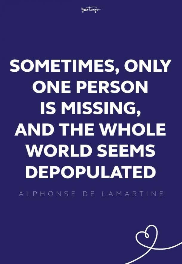 alphonse de lamarine missing someone quote