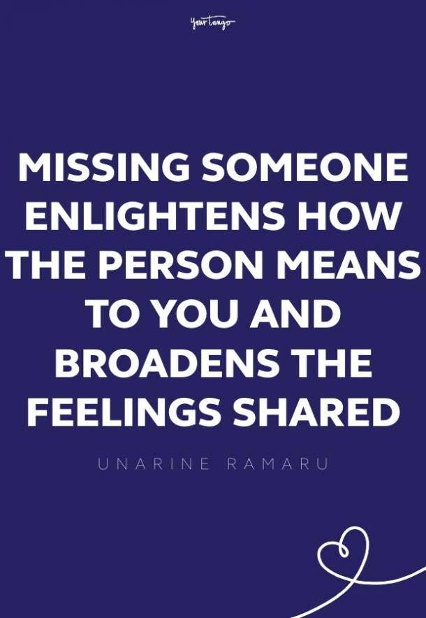 unarine ramaru missing someone quote