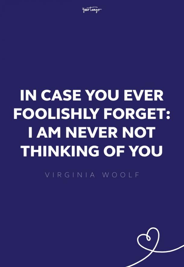 virginia woolf mising someone quote