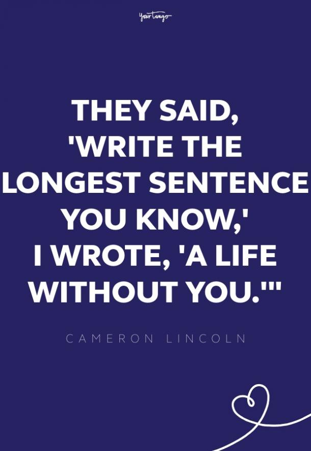 cameron lincoln missing someone quote