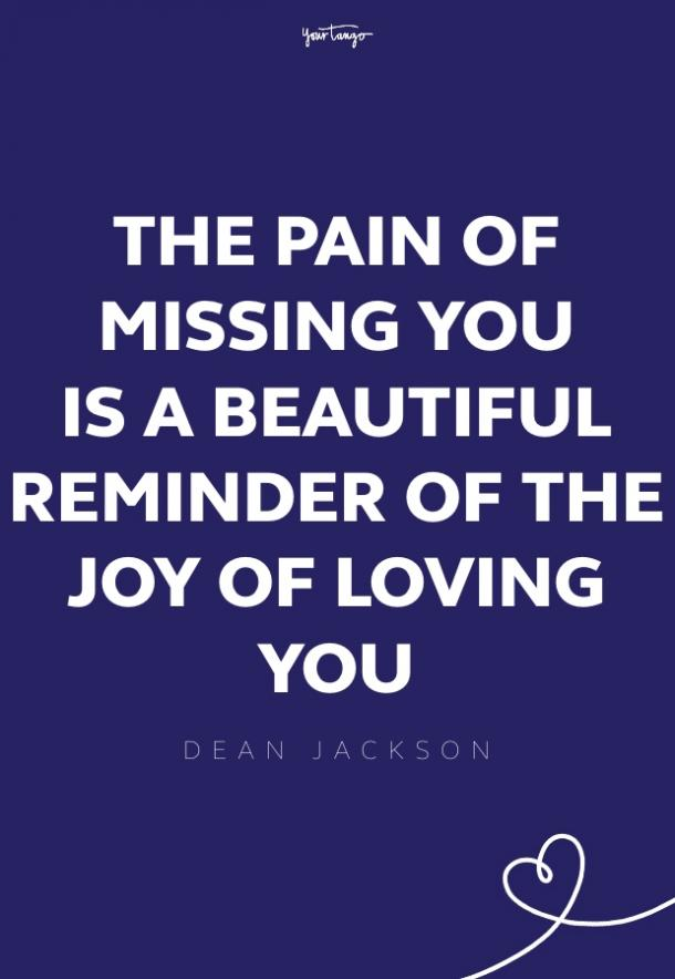 dean jackson missing someone quote
