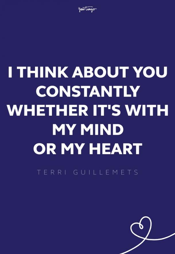 terri guillemets missing someone quote