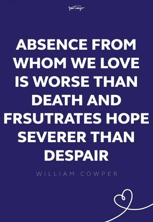 william cowper missing someone quote