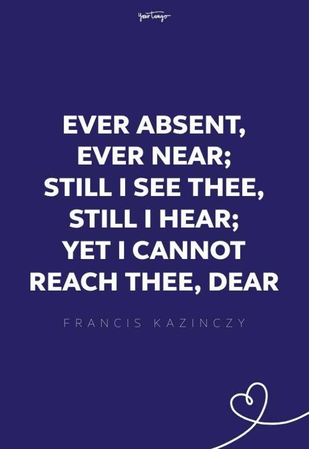 francis kazinczy missing someone quote