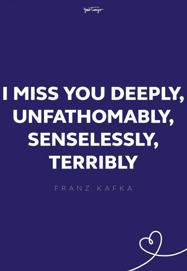 franz kafka missing someone quote