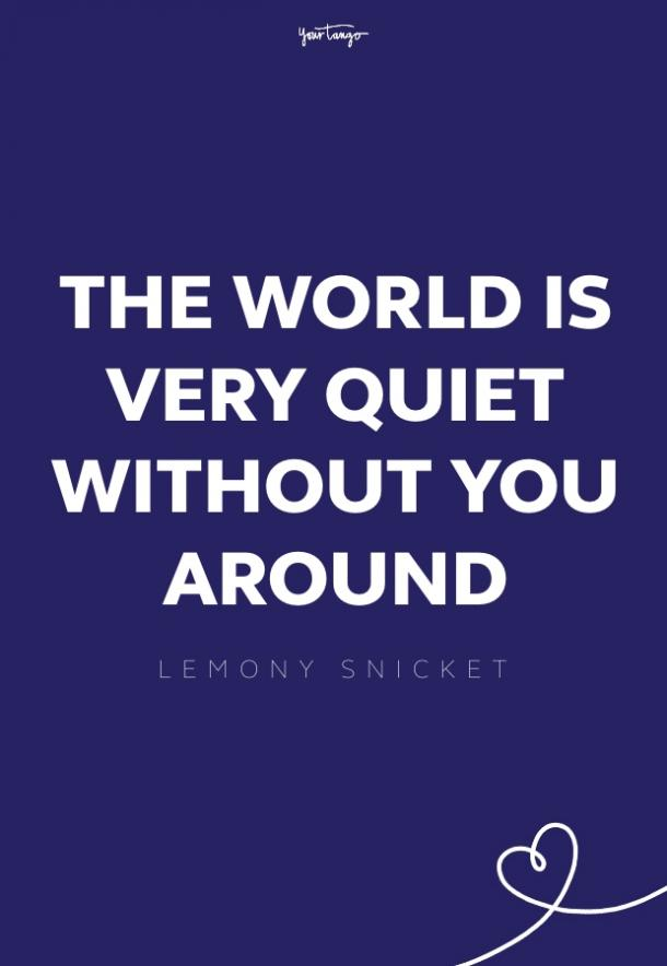 lemony snicket missing someone quote