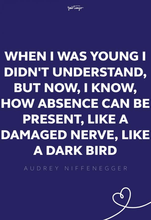 audrey niffnegger missing someone quote