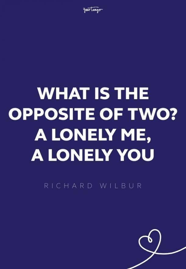 richard wilbur missing someone quote