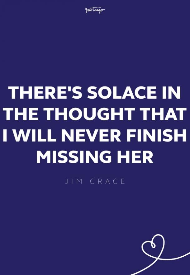 jim crace missing someone quote