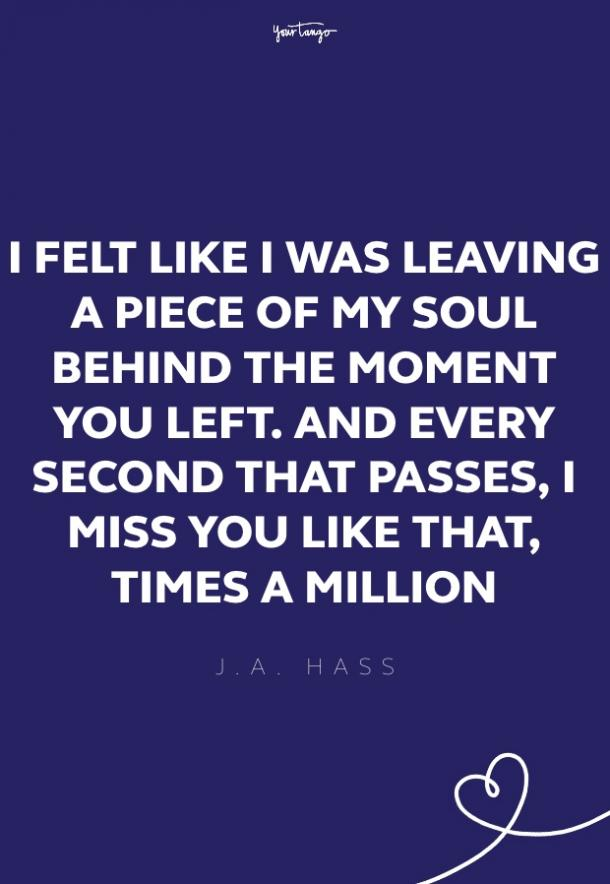 j.a. hass missing someone quote