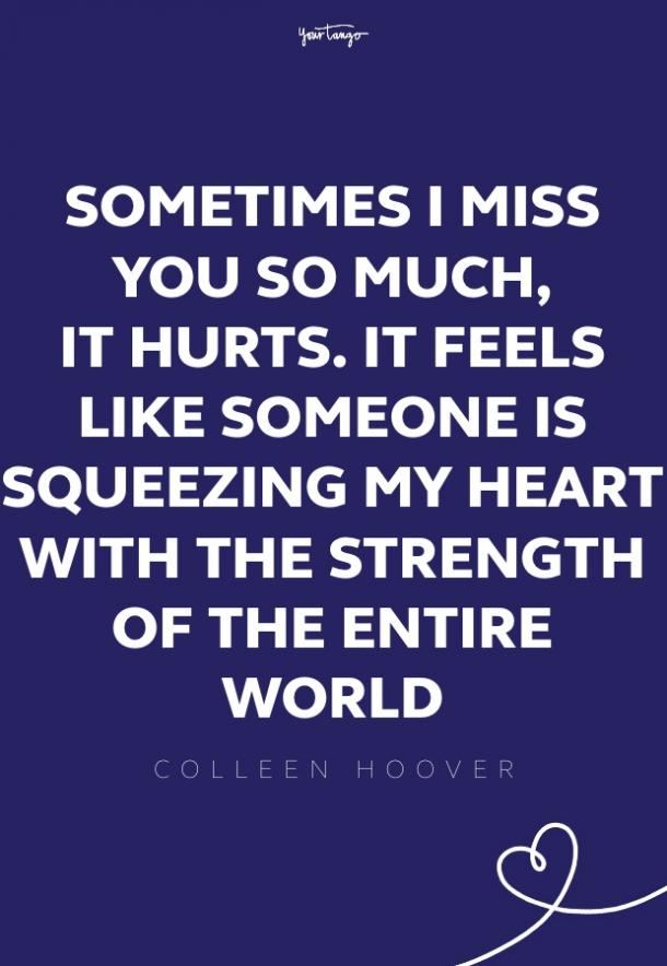 colleen hoover missing someone quote