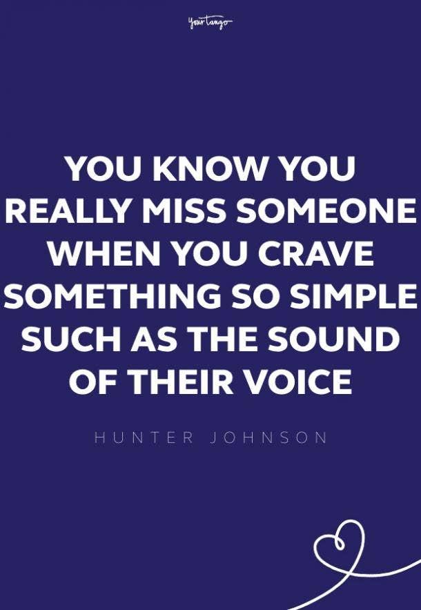 hunter johnson missing someone quote