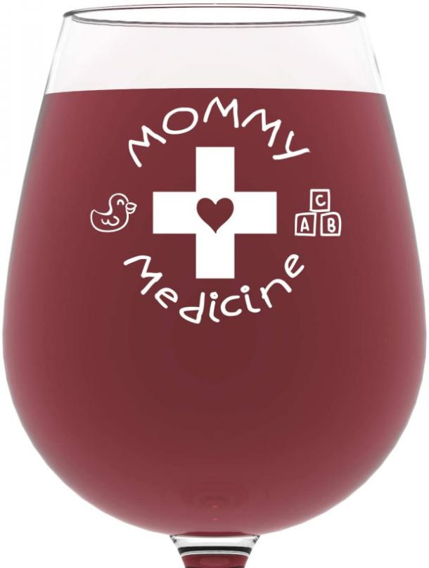 Mommy Medicine Funny Wine Glass mothers day gifts for girlfriend
