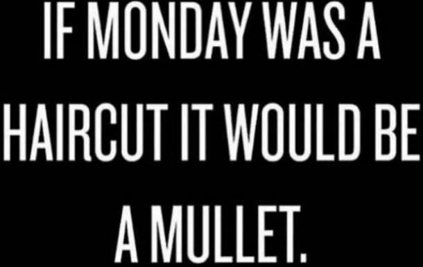 monday memes monday would be a mullet