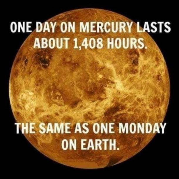 monday memes day on mercury