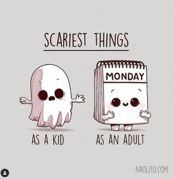 monday memes scaries things