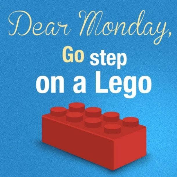 monday memes step on a lego